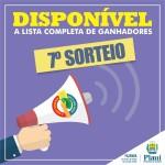 Nota Piauiense divulga lista com ganhadores do 7º sorteio