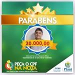 Nota Piauiense divulga ganhadores de R$ 50 mil e R$ 20 mil do 8º sorteio