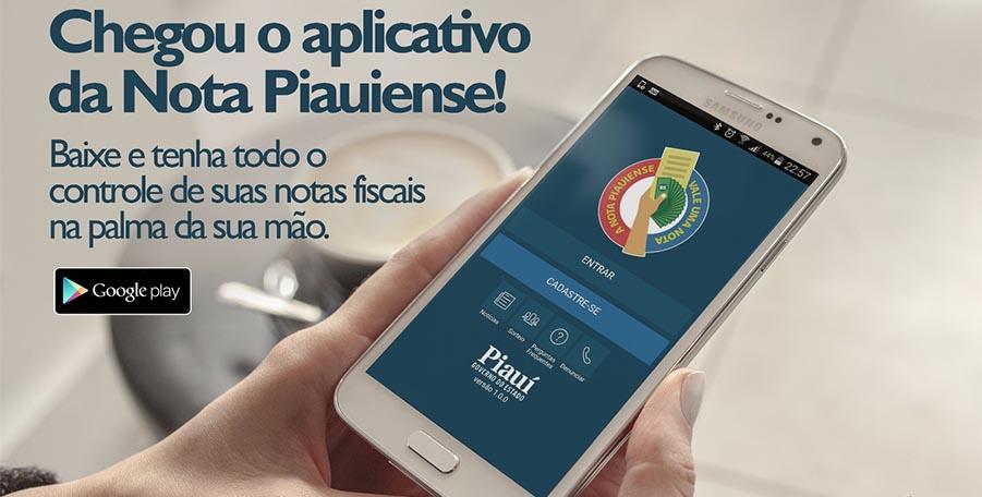 Nota Piauiense lança aplicativo para celular que permite o cadastro de notas