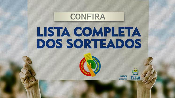Nota Piauiense divulga lista de ganhadores do 38º sorteio