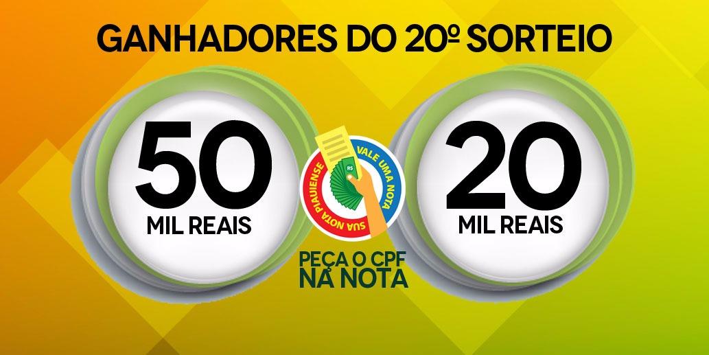 Consumidores de Picos levam R$ 50 mil e R$ 20 mil na Nota Piauiense