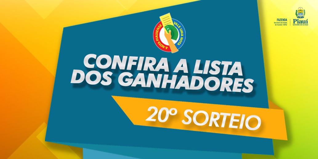Sefaz divulga lista completa dos ganhadores do 20º sorteio da Nota Piauiense