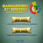 Sefaz divulga ganhadores do 21º Sorteio da Nota Piauiense