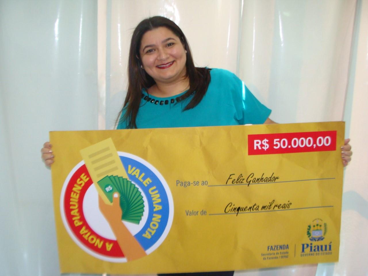 Ganhadores de 50 mil e 20 mil foram sorteados pela primeira vez na Nota Piauiense