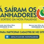 Nota Piauiense: ganhadores de Parnaíba e Floriano levam maiores prêmios do 38º sorteio