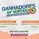 Consumidora de Parnaíba leva R$ 25 mil no 54º sorteio da Nota Piauiense
